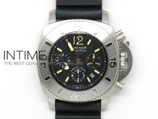 PAM187 G Submersible Chronograph 1:1 Ultimate Edition on Rubber Strap A7753