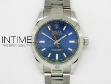 Milgauss SS Blue Dial (Green Sapphire) A2836 BP Maker
