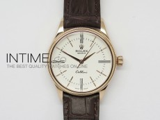 Cellini 50505 BP Maker RG White Dial on Brown Leather Strap A2824