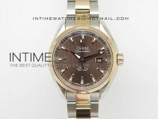 AQUA TERRA 150M SS/RG Brown textured dial Ladies 1:1 Miyota 8520