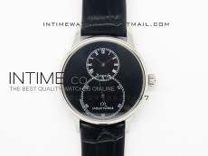 Jaquet Droz SS Case black dial on black leather