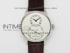Jaquet Droz SS Case White dial on brown leather