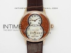 Jaquet Droz RG Case White MOP dial on brown leather