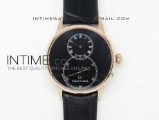 Jaquet Droz RG Case Black dial on black leather