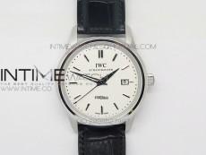 Ingeniuer St.Laurens SS White Black Dial MK 1:1 V2 Best Edition A80111 on Black Leather Strap