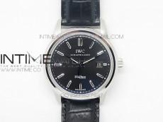Ingeniuer St.Laurens SS Black Dial MK 1:1 V2 Best Edition A80111 on Black Leather Strap