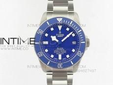 Pelagos Blue ZF 1:1 Best Edition Blue Dial on Titanium Bracelet A2824 (Free Blue Rubber Strap)