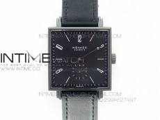 Nomos Tangente Square PVD Case Black Dial On Black leather Asian A2813