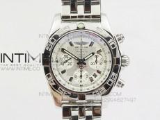 Chronomat B01 Chrono SS JF 1:1 Best Edition White Dial on SS Bracelet A7750