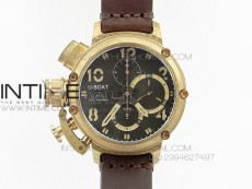 U-boat Bronzo 1:1 Best Edition Brown Dial on Brown Leather Strap A7750
