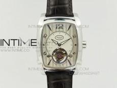 Kalpa Grande Tourbillon AXF Best Edition SS White Dial on Black Leather Strap