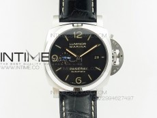PAM 1312 S ZF 1:1 Best Edition Black Dial on Black Leather Strap ZFP9010
