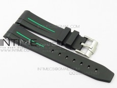 RubberB Green Line Rubber strap with Tang buckle for Submariner