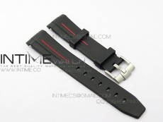 RubberB Red Line Rubber strap with Tang buckle for Submariner