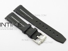 RubberB White Line Rubber strap with Tang buckle for Submariner