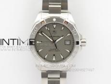 Aquaracer SS 1:1 Best Edition Gray Dial SS Bezel on Bracelet A2824