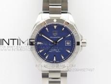 Aquaracer SS 1:1 Best Edition Blue Dial SS Bezel on Bracelet Strap A2824