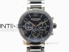 Montblanc Timewalker Chrono SS/Ceramic Black Dial On SS/Ceramic Bracelet