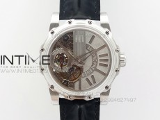 Tourbillon of Tourbillons SS Sliver Dial on Three Color Leather Strap A23J