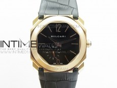 OCTO 12028 RG JL Best Edition Black dial On Black Leather Strap A2824