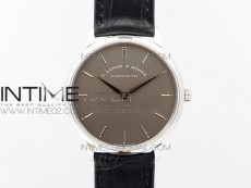 Saxonia Thin 211.026 SS Gray dial on Black Leather Strap MIYOTA 9015