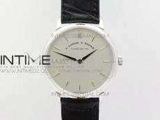 Saxonia Thin 211.026 SS Cream White dial on Black Leather Strap MIYOTA 9015