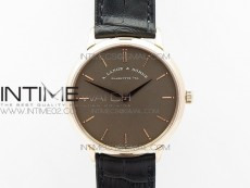 Saxonia Thin 211.026 RG Gray dial on Black Leather Strap MIYOTA 9015