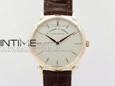 Saxonia Thin 211.026 RG White dial on Brown Leather Strap MIYOTA 9015