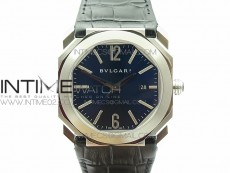 OCTO SS JL 1:1 Best Edition Blue dial On Black Leather Strap MIYOTA 9015 to BVL193