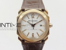 OCTO RG JL 1:1 Best Edition White dial On Brown Leather Strap MIYOTA 9015 to BVL193