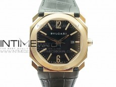 OCTO RG JL 1:1 Best Edition Black dial On Black Leather Strap MIYOTA 9015 to BVL193