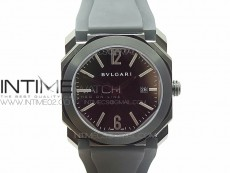 OCTO DLC JL 1:1 Best Edition Black dial Silver Markers On Black Leather Strap MIYOTA 9015 to BVL193