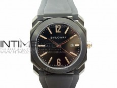 OCTO DLC JL 1:1 Best Edition Black dial RG Markers On Black Leather Strap MIYOTA 9015 to BVL193