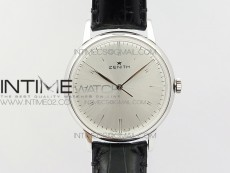 Elite SS LHF 1:1 Best Edition Silver Dial on Black Leather strap Miyata 9015 to Elite 6150