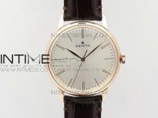 Elite RG LHF 1:1 Best Edition Silver Dial on Black Leather strap Miyata 9015 to Elite 6150