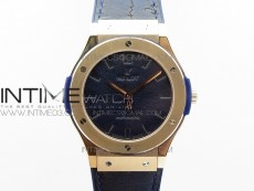 Classic Fusion 45mm RG Berluti Scritto V2 SRF Best Edition Blue Leather Dial On Blue Gummy Strap A2892