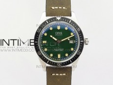 Divers 7720 SS ZZF 1:1 Best Edition Green Dial on Brown Leather Strap A2836