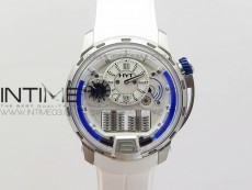 HTY SS CYF white dial blue Crown On White Rubber Strap Asian movement HTY Cal.101