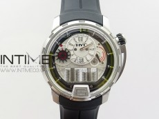 HYT SS CYF white dial black Crown On Black Rubber Strap Asian movement HTY Cal.101