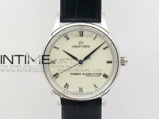 Jaquet Droz Astrale SS FK 1:1 Best Edition White dial on Black Leather Strap A1163.4