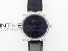 Elite SS CYF 1:1 Best Edition Blue Dial on Black Leather strap Miyota 9015 to Elite 6150