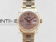 DateJust 28mm RG Diamond Bezel BP Best Edition Silver Dial on RG Bracelet ETA2671