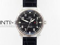 Mark XVII IW326501 SS MKF 1:1 Best Edition Black Dial on Black Leather Strap MIYOTA 9015