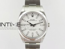 Oyster Perpetual 39mm 114300 BP 1:1 Best Edition White Dial on SS Bracelet SA3132