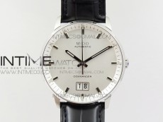 Commander SS HGF 1:1 Best Edition White Dial On Black Leather Strap A2824
