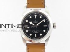 Black Bay 41mm LF 1:1 Best Edition Black Dial on Brown Leather Strap A2824