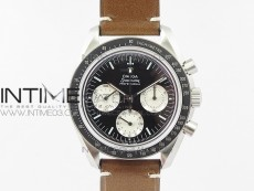 """Speedmaster SS """"Speedy Tuesday"""" OMF Best Edition Black Dial on Brown Leather Strap Manual Winding Chrono Movement"""