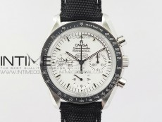Speedmaster SS Snoopy OMF Best Edition White Dial on Nylon Strap Manual Winding Chrono Movement
