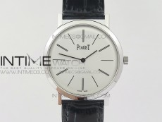 Altiplano SS BBR Best Edition White Dial on Black Leather Strap A430P