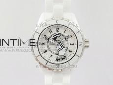 J12 Mademoiselle Shanel 38mm KOR 1:1 Best Edition White Korea Ceramic White Dial on Bracelet A2824